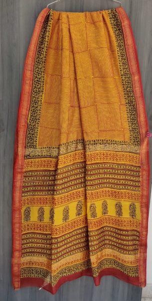 Latest Maheshwari Silk Sarees With Blouse (50)