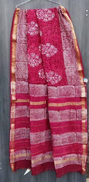 Latest Maheshwari Silk Sarees With Blouse (7)