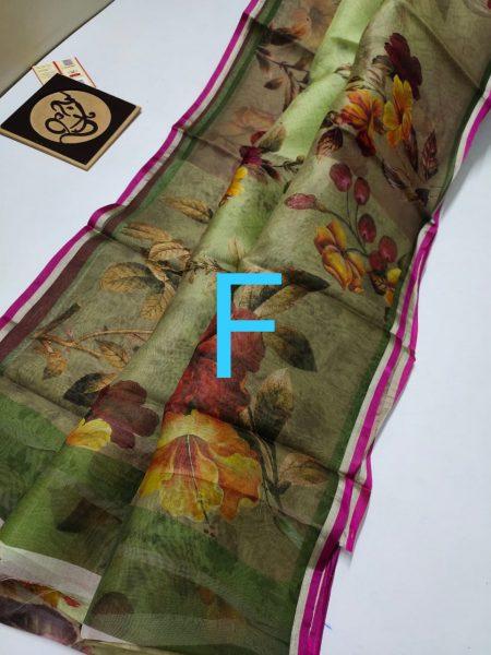 Pure Banaras Kora Floral Sarees (19)