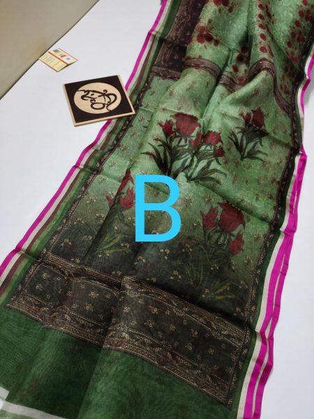 Pure Banaras Kora Floral Sarees (3)