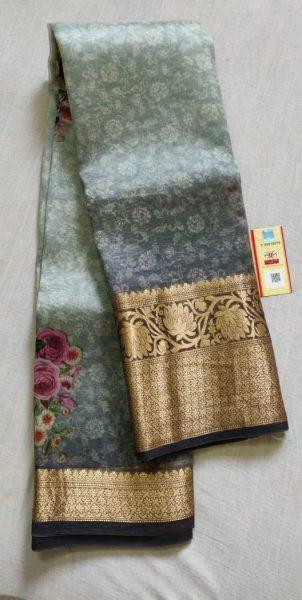 Pure Handloom Banaras Kora Digital Print Sarees (11)