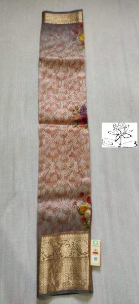 Pure Handloom Banaras Kora Digital Print Sarees (2)