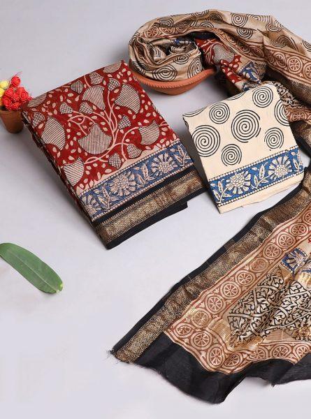 Pure Maheshwari Silk Dresses (13)