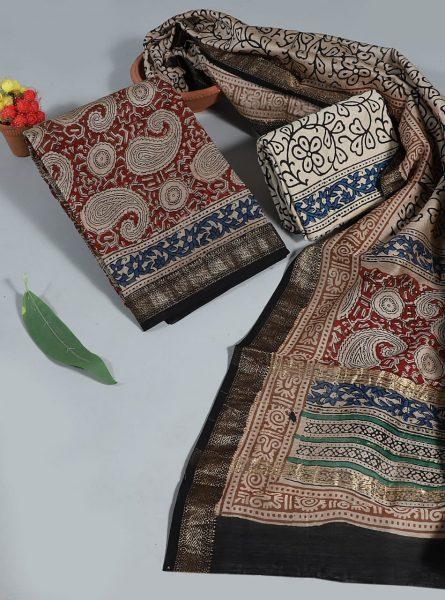 Pure Maheshwari Silk Dresses (16)