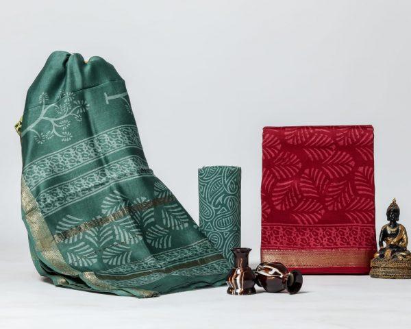 Pure Maheshwari Silk Dresses (28)